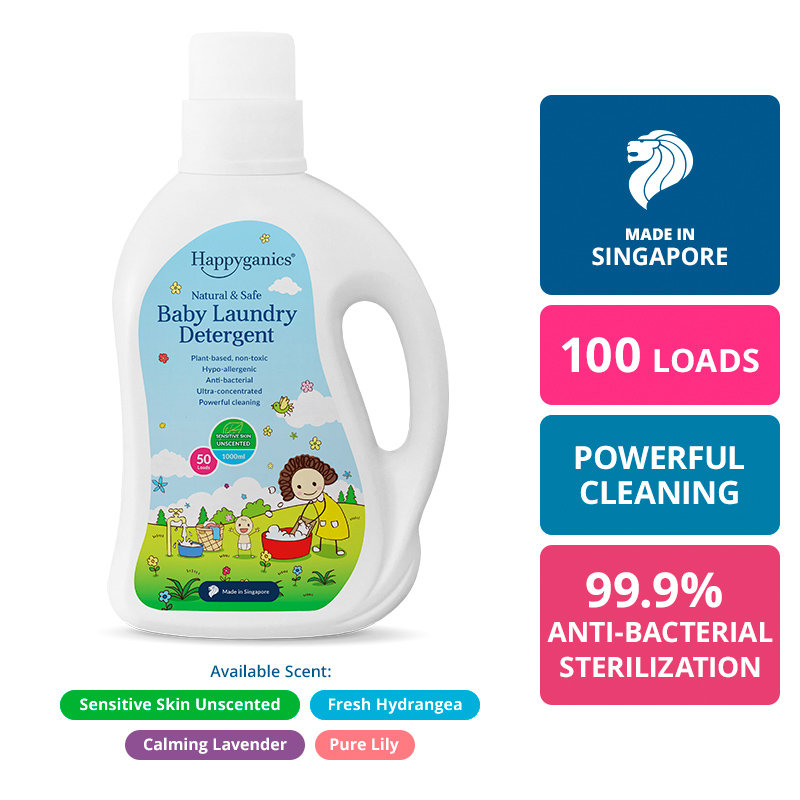 Baby Laundry Detergent (Natural Unscented) - 1000ml